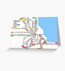Chicago Rail System Greeting Card