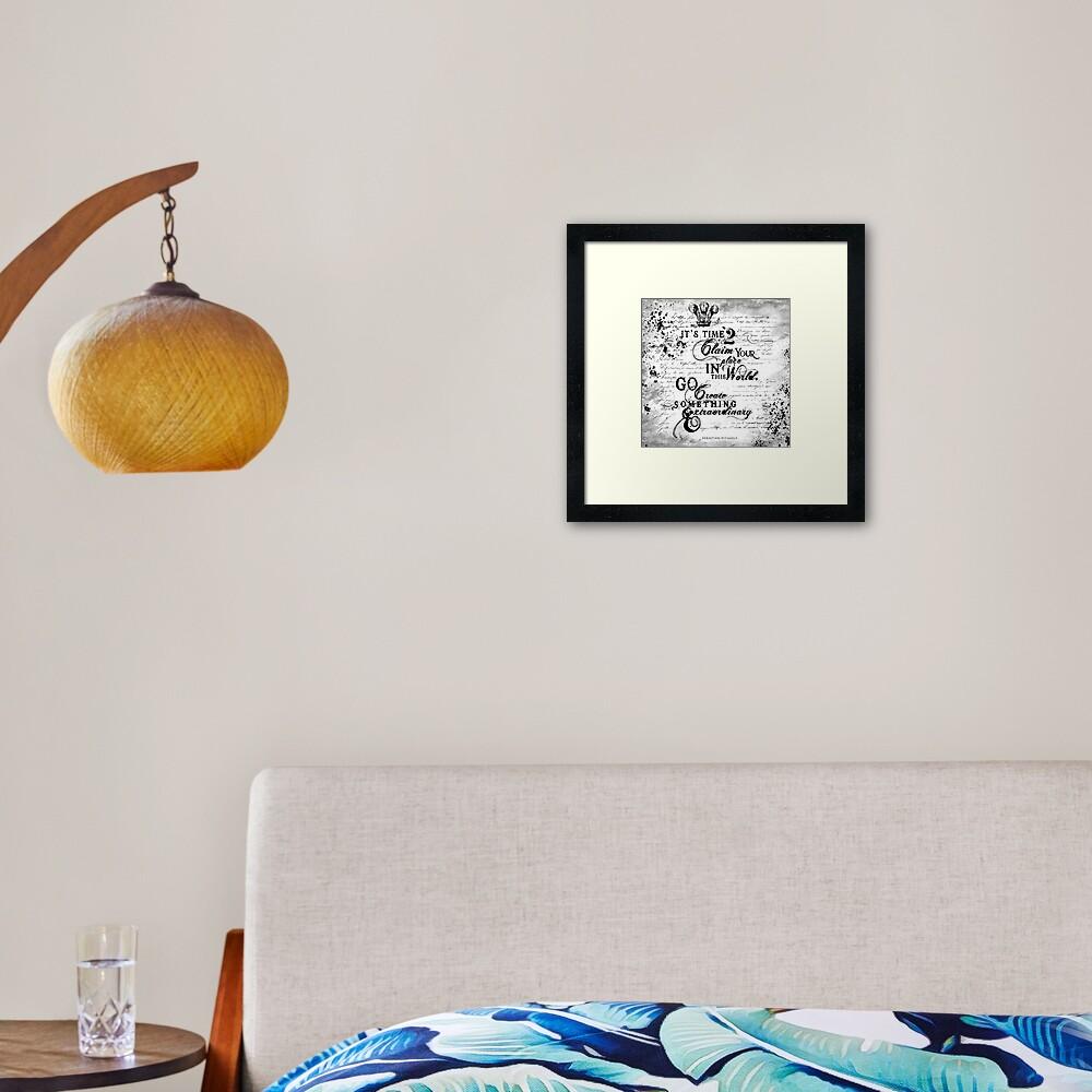 GO CREATE Framed Art Print