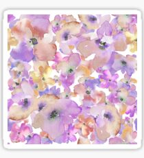 watercolor purple flowers Sticker