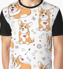 Cute Welsh Corgi Graphic T-Shirt
