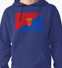 Lanzarote Flag, Canary Islands Pullover Hoodie