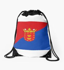 Lanzarote Flag, Canary Islands Drawstring Bag