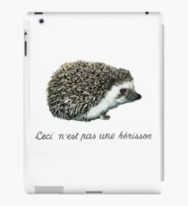 """""""This is not a hedgehog""""  iPad Case/Skin"""