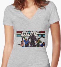 G.I. Joe Animated series Women's Fitted V-Neck T-Shirt