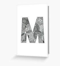 Zentangle M Greeting Card