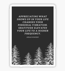 Oprah Winfrey Gratitude Quote Sticker