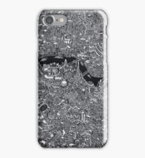 Map of London Thames iPhone Case/Skin