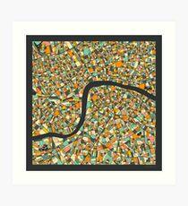 LONDON MAP (7) Art Print