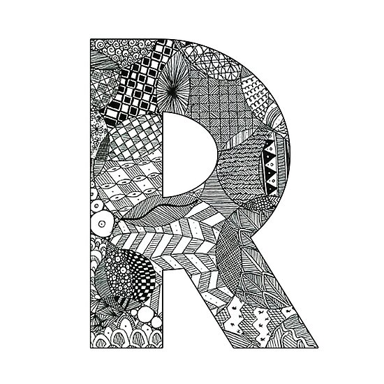 Zentangle R Posters By Ally Gracie Redbubble