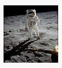 Vintage Iconic Mann auf dem Mond Apollo 11 Fotodruck