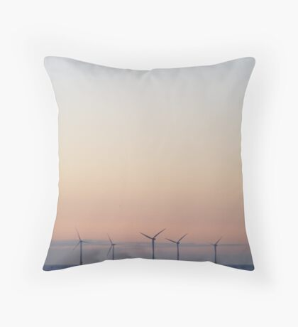 Early Moon Throw Pillow
