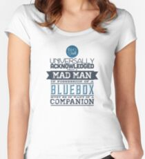 A Mad Man in Possession of a Blue Box Women's Fitted Scoop T-Shirt