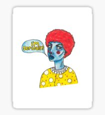 Serious clown Sticker