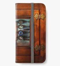 Steampunk - Electrical - The fuse panel iPhone Wallet/Case/Skin