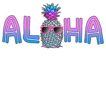Colorful Aloha Pineapple by BailoutIsland