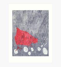 Wet Hen Art Print