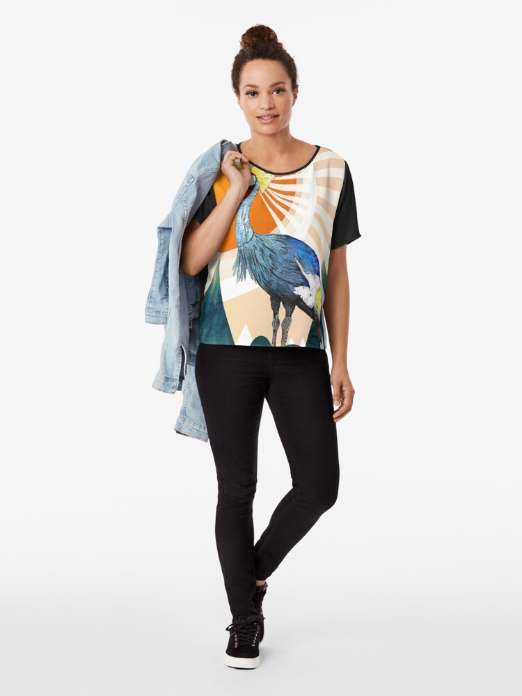 Alternate view of Crowned Crane Chiffon Top