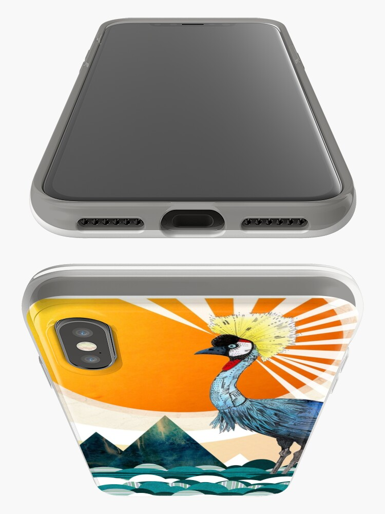 Alternate view of Crowned Crane iPhone Case & Cover