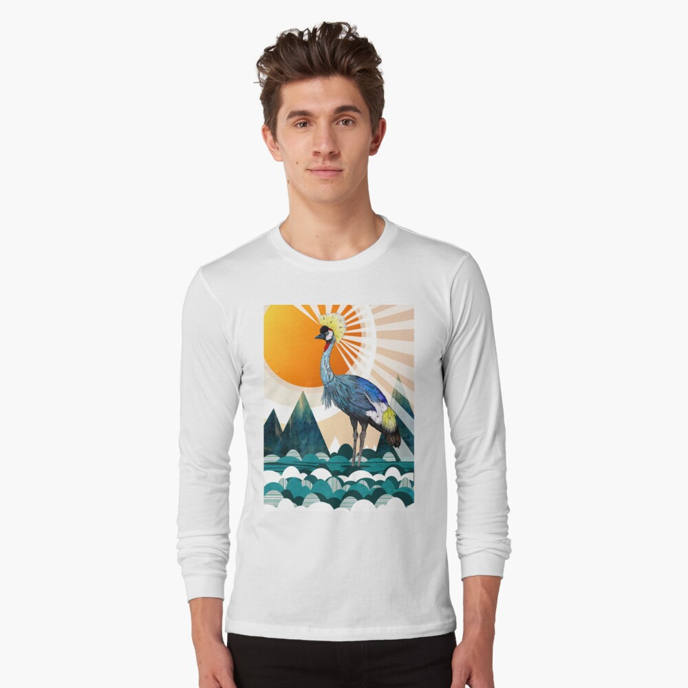 Crowned Crane Long Sleeve T-Shirt