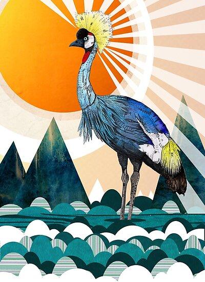 Crowned Crane by Sandra Dieckmann