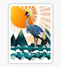Crowned Crane Sticker