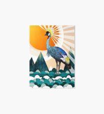 Crowned Crane Art Board
