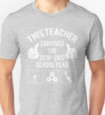 This Teacher Survived The 2016 2017 School Year Unisex T-Shirt
