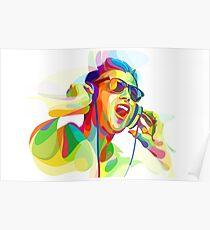 digital painting dj Poster