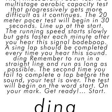 fitnessgram pacer test (bleep test) copypasta meme by aculrr