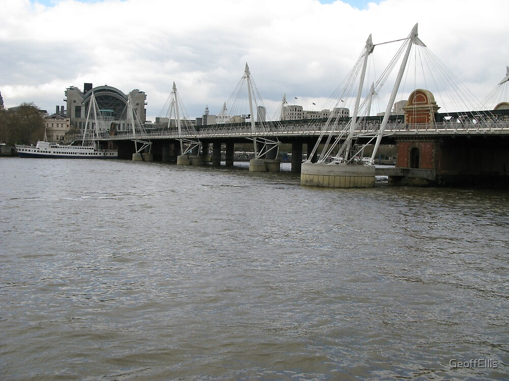 Hungerford Bridge. LONDON. by GeoffEllis