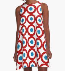 French Mod Tricolour  A-Line Dress