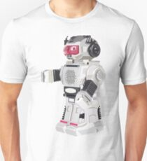 Robot Toy Silver and Red Vector Art T-Shirt