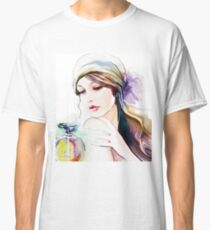watercolor lady Classic T-Shirt