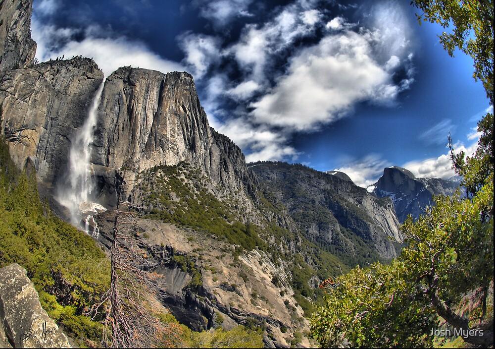 Yosemite Falls and Half Dome by Josh Myers