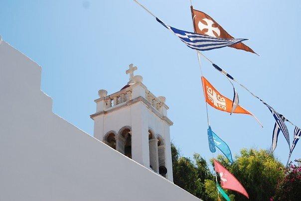 Flags of Mykonos by Galen  Stone