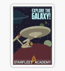 explore the galaxy Sticker