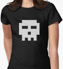 Scott Pilgrim Skull Womens Fitted T-Shirt