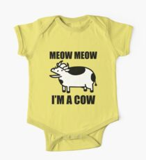 Meow meow, I'm a cow - ASDF Movie from TomSka Kids Clothes