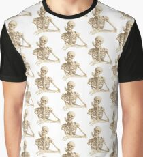 bored skeleton Graphic T-Shirt