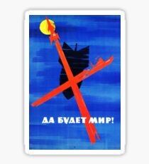 Soviet Propaganda - Let There be Peace! (1960s) Sticker
