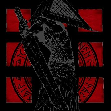 Pyramid Head Tribute (Black Background Only) by Fuzzyketchup