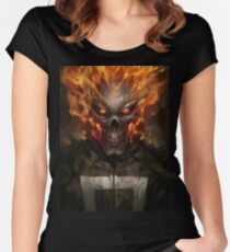 Ghost Rider Shirt  Women's Fitted Scoop T-Shirt