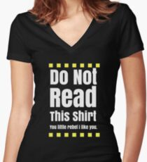 Do not read Women's Fitted V-Neck T-Shirt