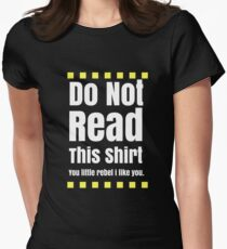 Do not read Womens Fitted T-Shirt