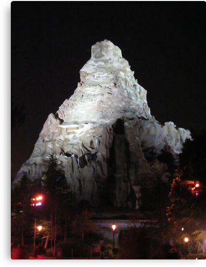 Matterhorn Mountain at Night by TLCGraphics