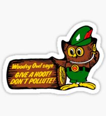 Woodsy Owl Give a Hoot Don't Pollute Sticker