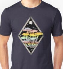 Rainbow Mushrooms || Psychedelic Illustration by Chrysta Kay T-Shirt