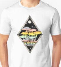 Rainbow Mushrooms || Psychedelic Illustration by Chrysta Kay Unisex T-Shirt