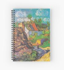 Houses in Auvers 2 by Van Gogh Spiral Notebook