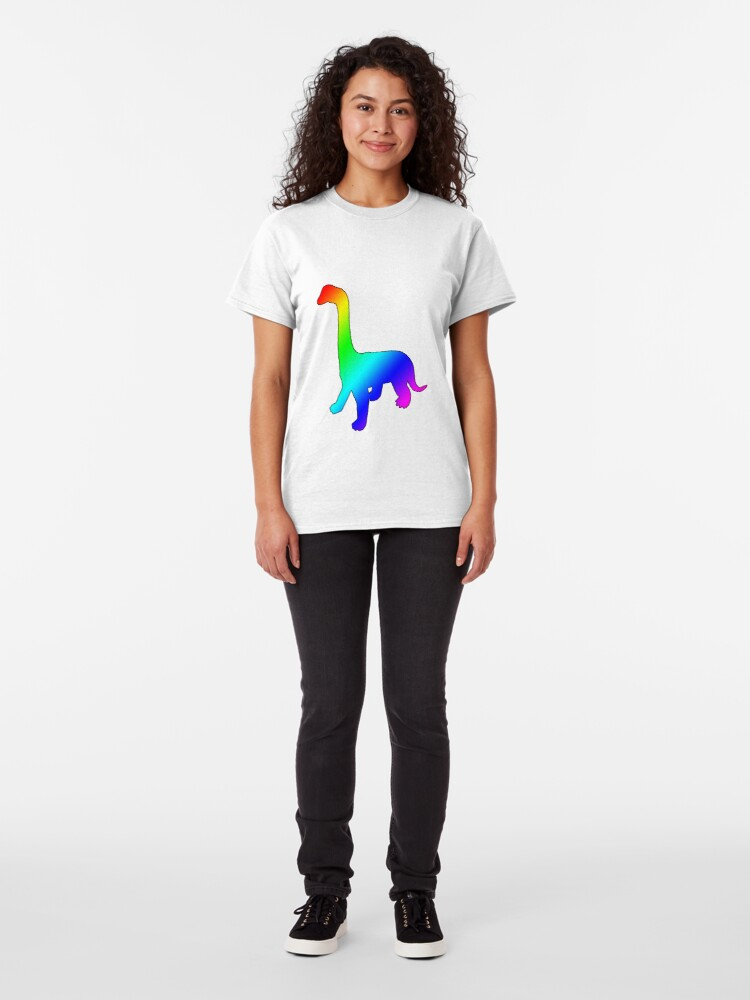 Alternate view of Dino Rainbow Classic T-Shirt